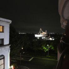 ベランダから。夜景。