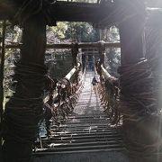 山口の錦帯橋、山梨の猿橋と並ぶ日本3大奇橋(?)の一つで、渡橋料(550円)がかかりました
