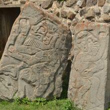 踊る人の石碑です。