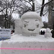巨大雪像が迫力ある