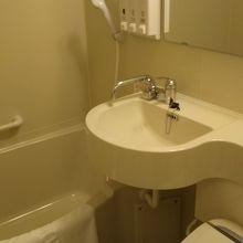 一般的なバスルーム。きれいでレインシャワー付きが凄い。