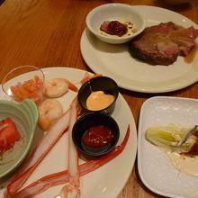 海鮮、肉中心で選びました