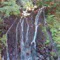 ホテル天成園の敷地内にある滝