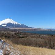 富士山と山中湖を一望