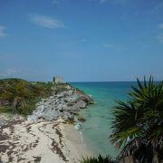 カリブ海に面したマヤ文明の遺跡