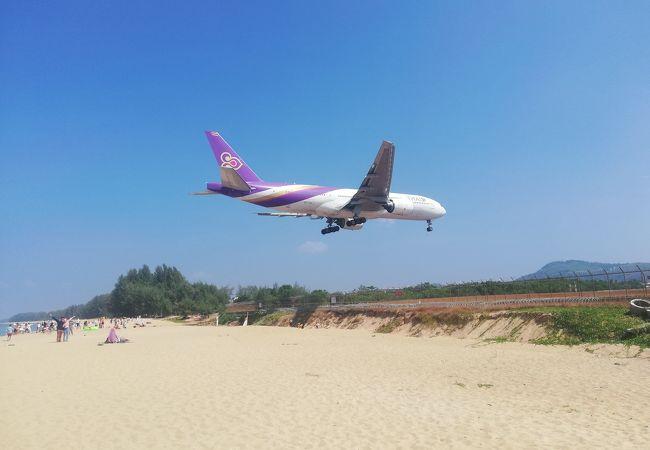 空港近くの綺麗なビーチ