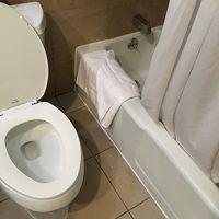 浅い浴槽つきのシャワールーム