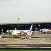 大きな空港です イミグレ通って国内線に乗り換え