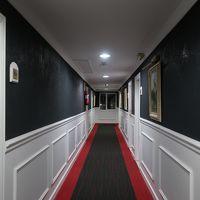 廊下はお城の中みたいでした