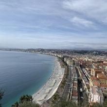 天気がよかったのでとても綺麗な海が見えました
