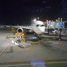 出発前の機体