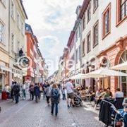 ハイデルベルクの旧市街の目抜き通りです。