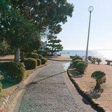 竹島海岸沿い