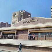 カイロ市内には三本の地下鉄が走っています!!