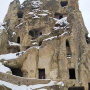 洞窟教会がたくさん