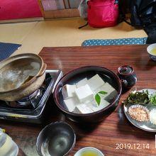 お豆腐は嵯峨野の名店森嘉のお豆腐をつかっています