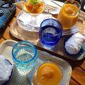 マンゴー農園のカフェ
