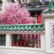 ハリウッド通りのウォールアートの中にある香港最古の道教寺院