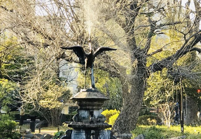 日比谷公園 鶴の噴水
