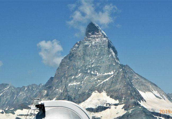 マッターホルン、モンテローザなどスイスアルプスが360度楽しめる展望台