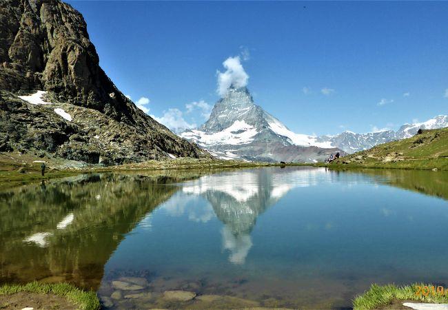 逆さマッターホルンがきれいに見える湖