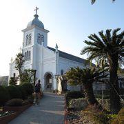 丘上の白亜の教会 大江天主堂