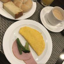 オーダー制卵料理(プレーンオムレツ)