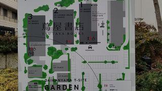 旧山手通り沿いの緑豊かな複合施設
