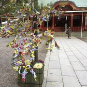 長田のちょうどよい大きさの落ち着いた神社