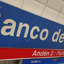 バンコ デ エスパーニャ駅
