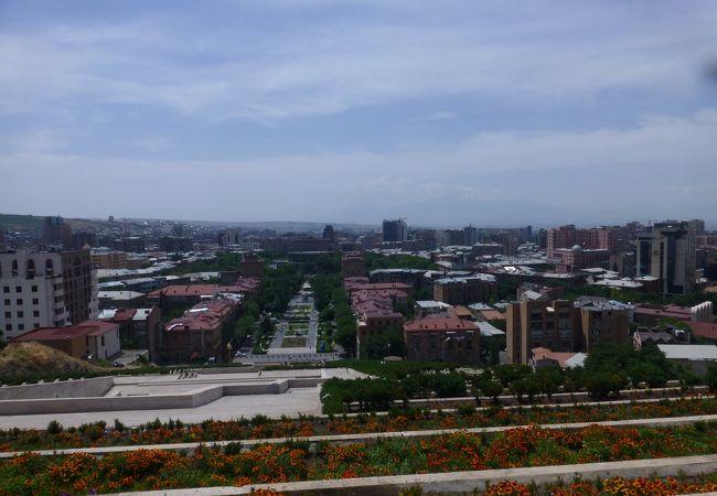 広がりある町が見渡せます