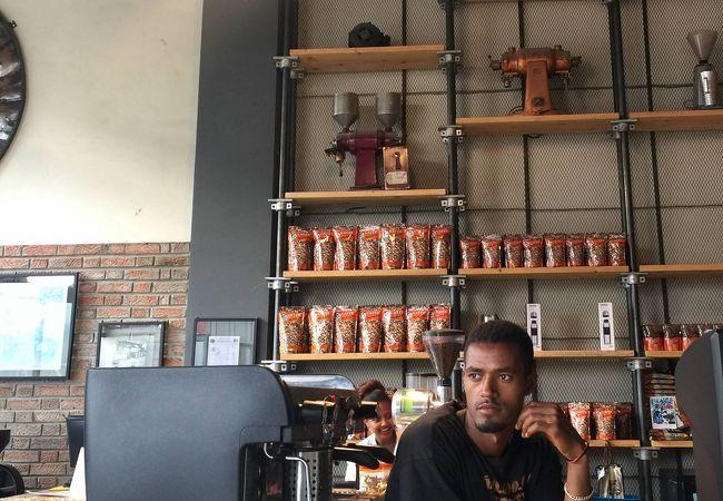 コーヒー発祥の地でコーヒーセレモニー