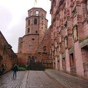 古城街道ドイツ最古の大学街にそびえるハイデルベルク城