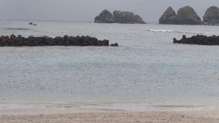 集落にあるビーチ