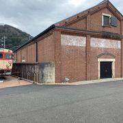 鉄道記念館とレストラン