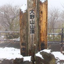 山頂の標高表示