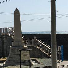 海水浴場記念碑が立っていました