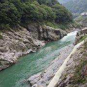吉野川の碧の流れ