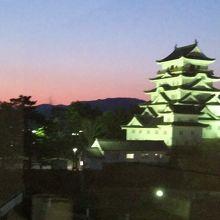 ライトアップされた福山城