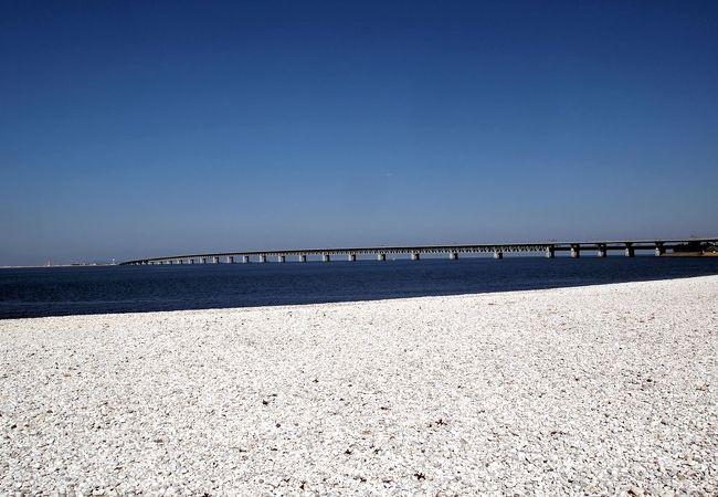 白が鮮やかなビーチです。