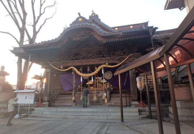 鎌倉時代から続く神社ですが、現在の拝殿は1935年創建