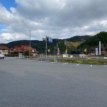道の駅の駐車場の様子です。