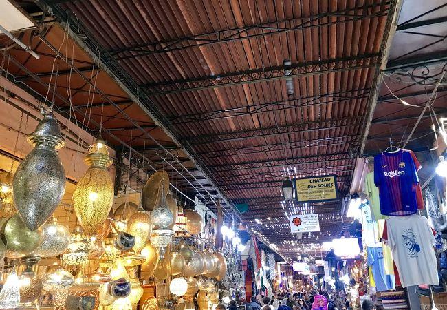 マラケシュの巨大市場