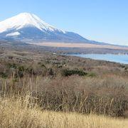 富士山も湖も