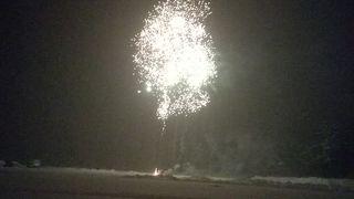 冬の花火が素晴らしい