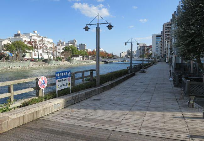 新町川水際公園 しんまちボードウォーク