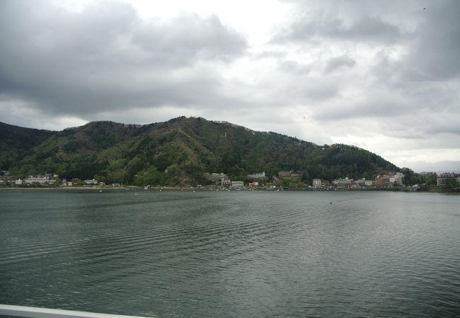 河口湖の景色が望める。