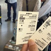 花蓮駅から台北駅まで特急自強号に乗る