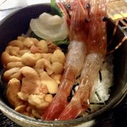 温泉に入って、海鮮丼!