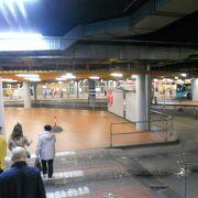 「ヴィル・ケスクス」の地下に大きなバスターミナルがあります